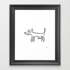 Tit-Dog Framed Art Print