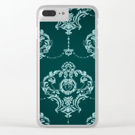 Face pattern Clear iPhone Case