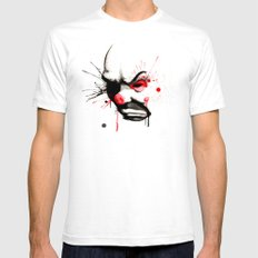 Clown Bank Robber Splatter White Mens Fitted Tee SMALL