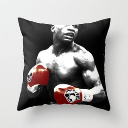 floyd mayweather black and white Throw Pillow