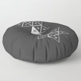Unrolled D20 Floor Pillow