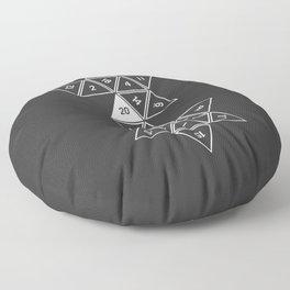 Unrolled D20 Floor Pillow