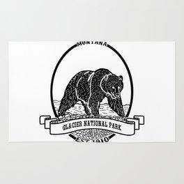 Glacier National Park Emblem Rug