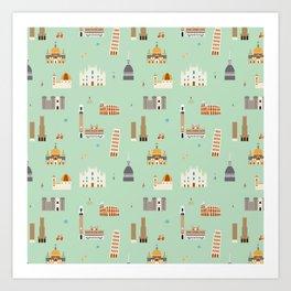 Italy pattern Art Print