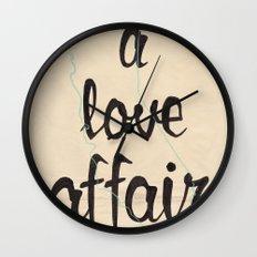 a love affair Wall Clock