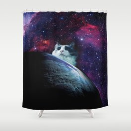 Fat Fat rules the world! Shower Curtain
