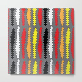 Coloured Worms Metal Print