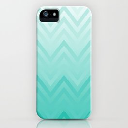 Fading Teal Chevron iPhone Case