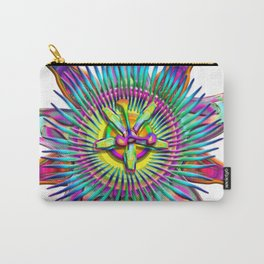 "Passiflora The ""Passion Flower"" Psyhcedelic Abstract Carry-All Pouch"