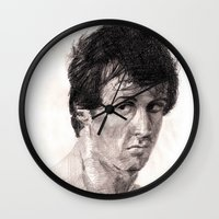 rocky Wall Clocks featuring Rocky by ChrisHdzArt