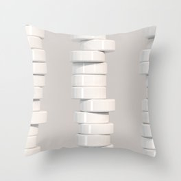 Pattern of white cylinders Throw Pillow