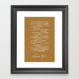 Family Manifesto (Orange) Framed Art Print