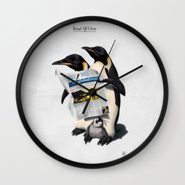 Read All Over Wall Clock