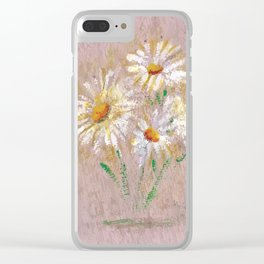Flor V (Flower V) Clear iPhone Case