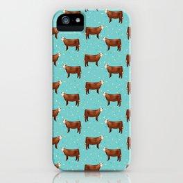 Simmental // Aqua // Sprinkles iPhone Case