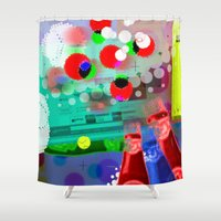 darwin Shower Curtains featuring DARWIN DNA by DARWIN STEAD