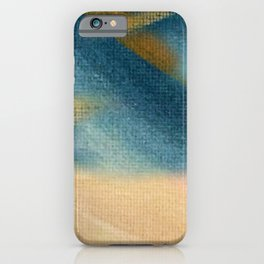 Wind and Rain - acrylic abstract with pink, blue, and brown iPhone Case
