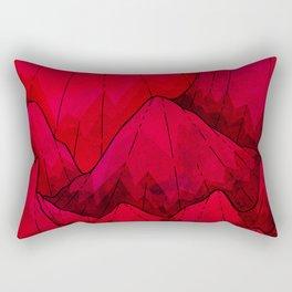 Rose red Rocks Rectangular Pillow