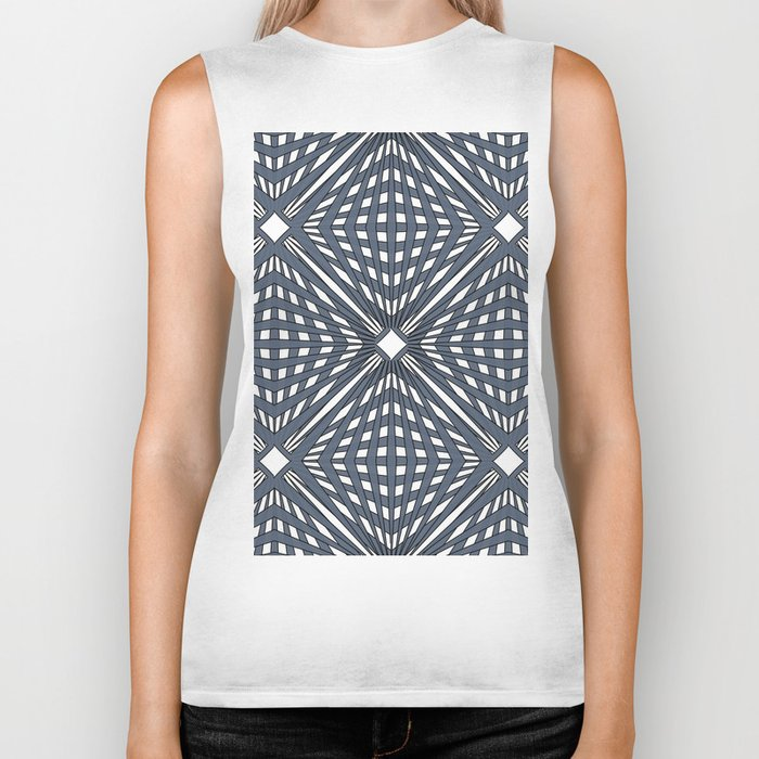 Abstract geometric pattern,gray pattern on a white background. Biker Tank
