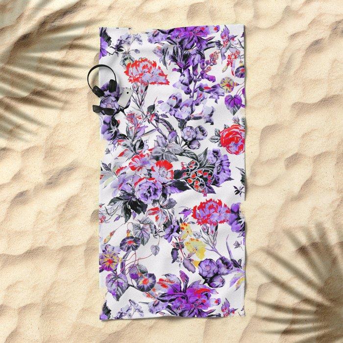 FRACTAL FLORA II Beach Towel