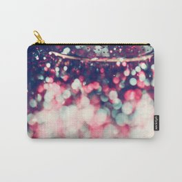 Pinky Blue Glitter Bokeh Blur Carry-All Pouch