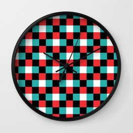 Pixeled Squares Wall Clock