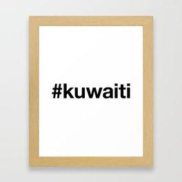 KUWAIT Framed Art Print