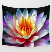 thailand Wall Tapestries featuring Flower in Thailand by Adrian Evans