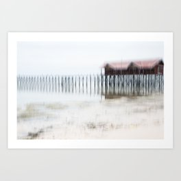 House at the beach | Fine Art mood photography Art Print