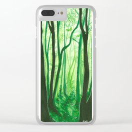 Mossy Dreams Clear iPhone Case