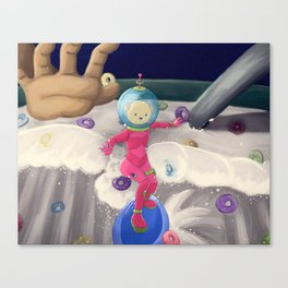 Cereal is surfed Canvas Print