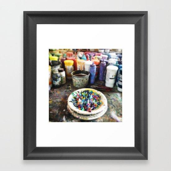 Plate of Colour Framed Art Print