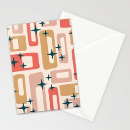 Retro Mid Century Modern Abstract Pattern 121 Stationery Cards