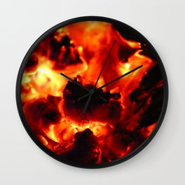 Hot Embers Wall Clock