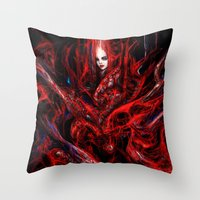 witchcraft Throw Pillows featuring Witchcraft by Gyossaith