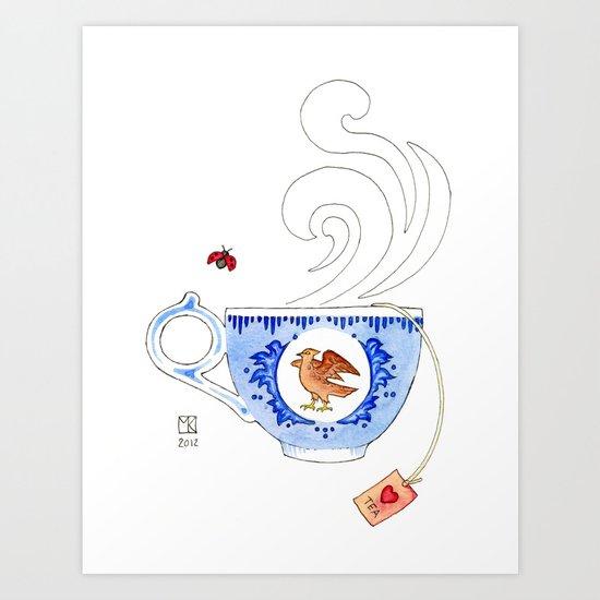 Molly's Cup Art Print