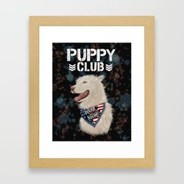 PUPPY CLUB Framed Art Print