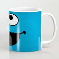 cookie monster Mugs featuring Cookie Monster by Adel