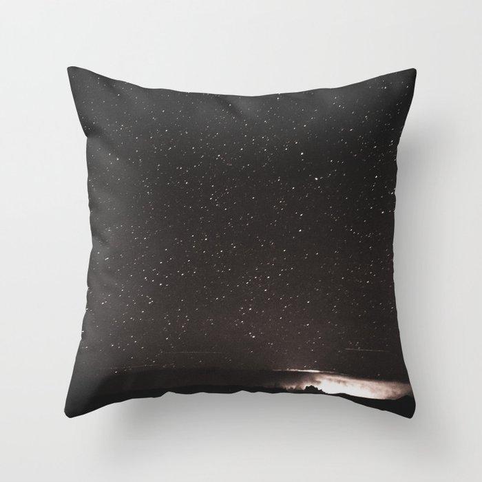 Starry Summer Night in Arizona Throw Pillow