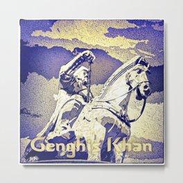Spirit of the Great Gobi Desert - Genghis Khan Metal Print