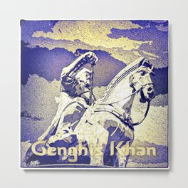 Spirit of the Great Gobi Desert - Genghis Khan Metal Print