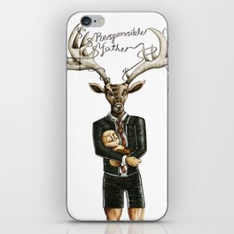 Responsible father / Padre responsable iPhone Skin