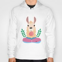 lama Hoodies featuring Sport Lama by Holanes