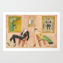 Family Idyll; Love and Marriage and Other Common Disasters portrait painting by Nils Dardel Art Print