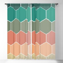 Colorful Hexagons Blackout Curtain