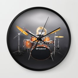 Corky's playing the Drums Wall Clock
