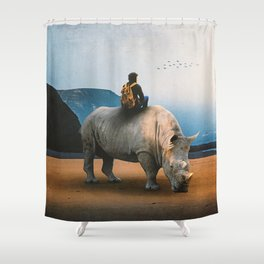 Looking Nowhere Shower Curtain