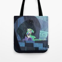 hyrule Tote Bags featuring When Hyrule Drowns by Ann Marcellino