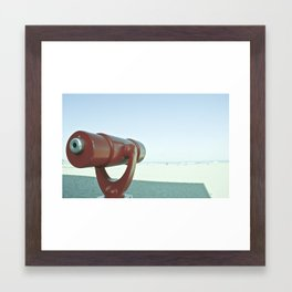 BEACHY SPYGLASS Framed Art Print