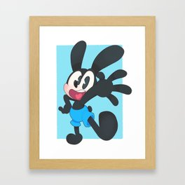 Oswald The Lucky Rabbit Framed Art Print